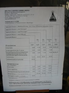 Goslar Bergwerk - Einlass