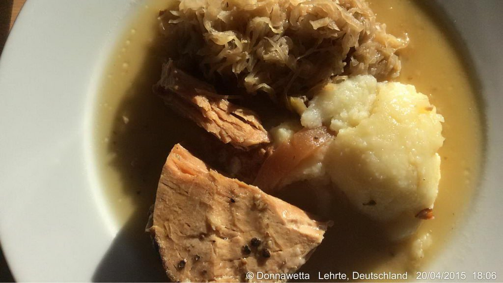 Kasseler Braten und Sauerkraut