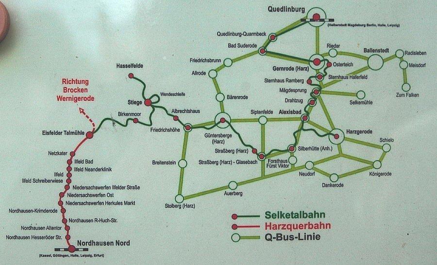 Selketalbahn Harz - HSB Karte