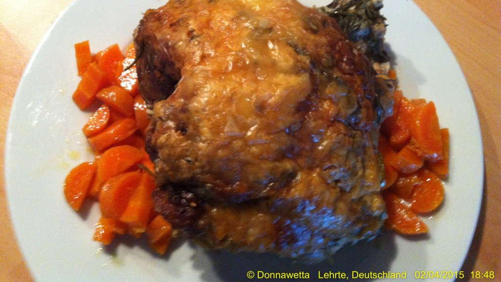 Lammkeule mit Gorgonzola