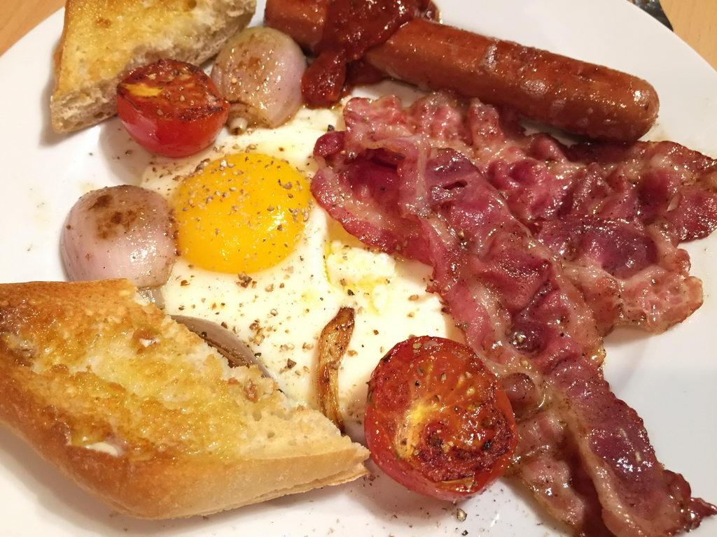Irisches Frühstück ohne Champignons