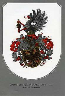 Wappen Buchdrucker Schriftsetzer
