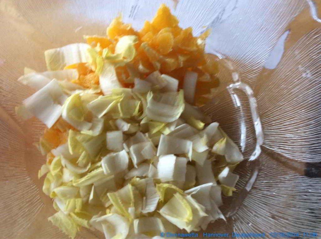 Chiccore-Orangen-Salat