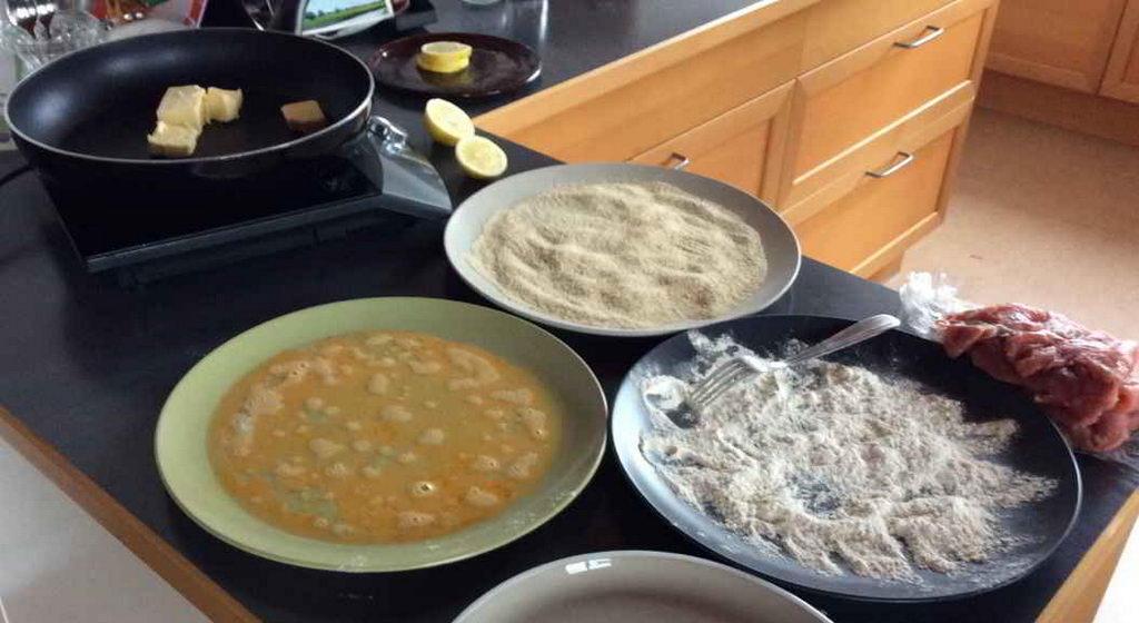 Vorbereitung Schnitzel Wiener Art