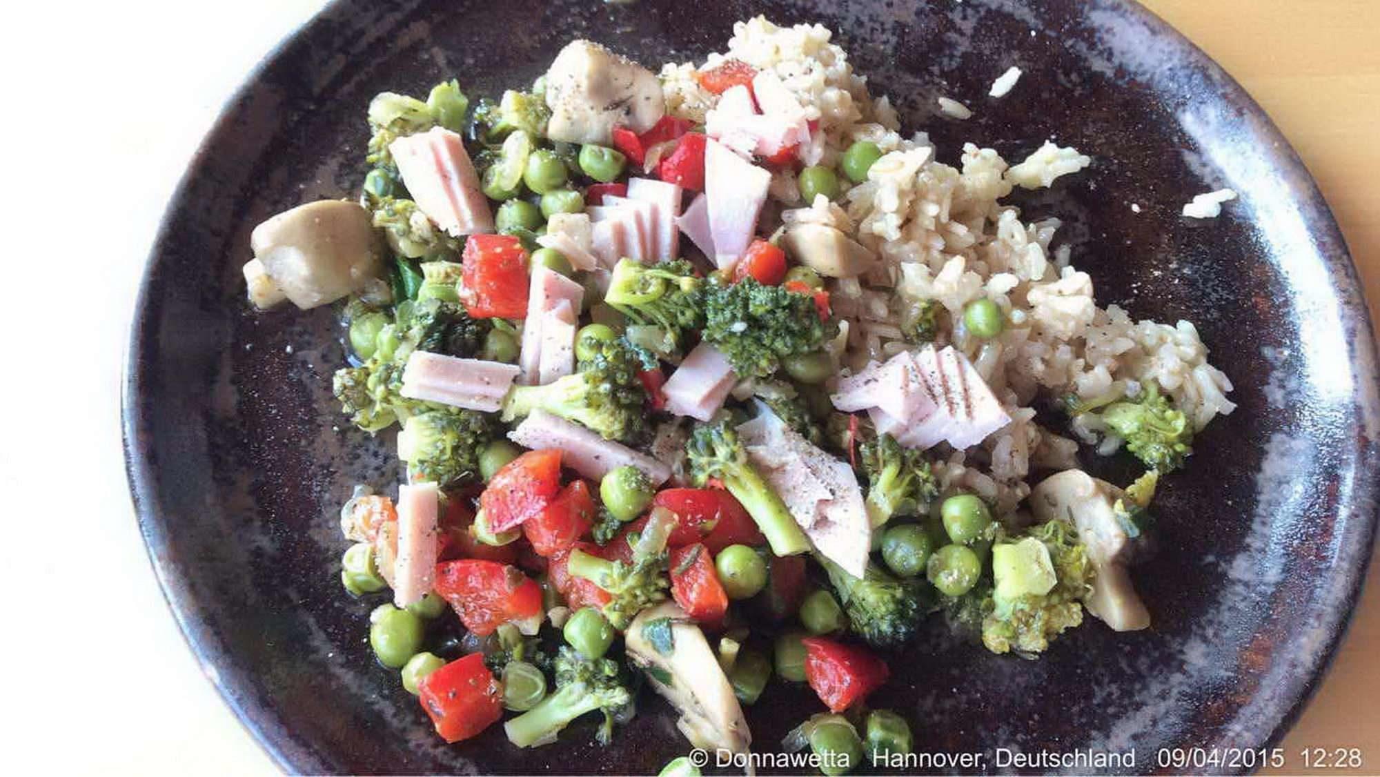 Bratreis und mediterranes Gemüse
