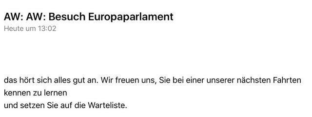 Europa-Parlament-Einladung