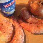 gefüllte Tortellini in Tomaten-Sahne-Sauce