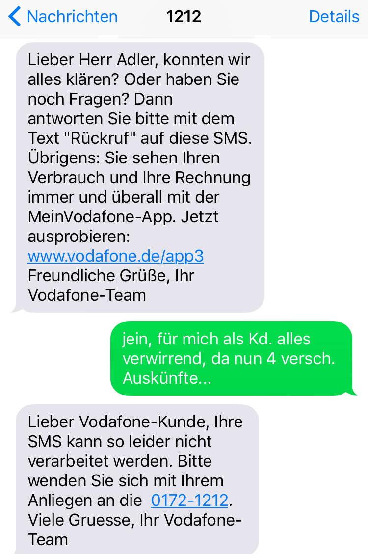 Vodafone neuer Vertrag?