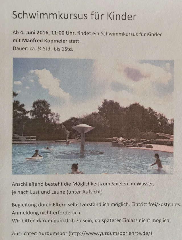 schwimmen lernen für Kinder