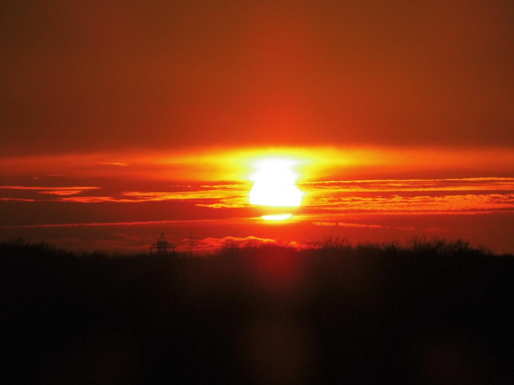 Balkonien-Sonnenuntergang