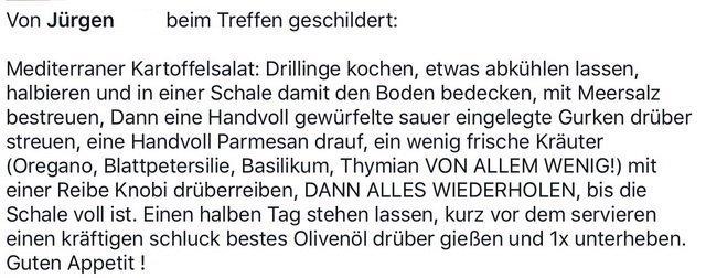 Jürgens Rezept Mediterraner Kartoffelsalat