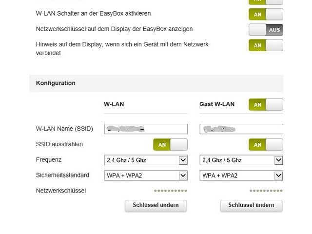 EasyBox WLAN mit IE