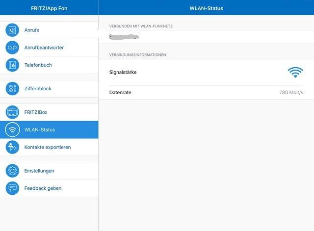 FritzBox Oberfläche App