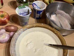 Matjestopf Hausfrauenart - Vorbereitung