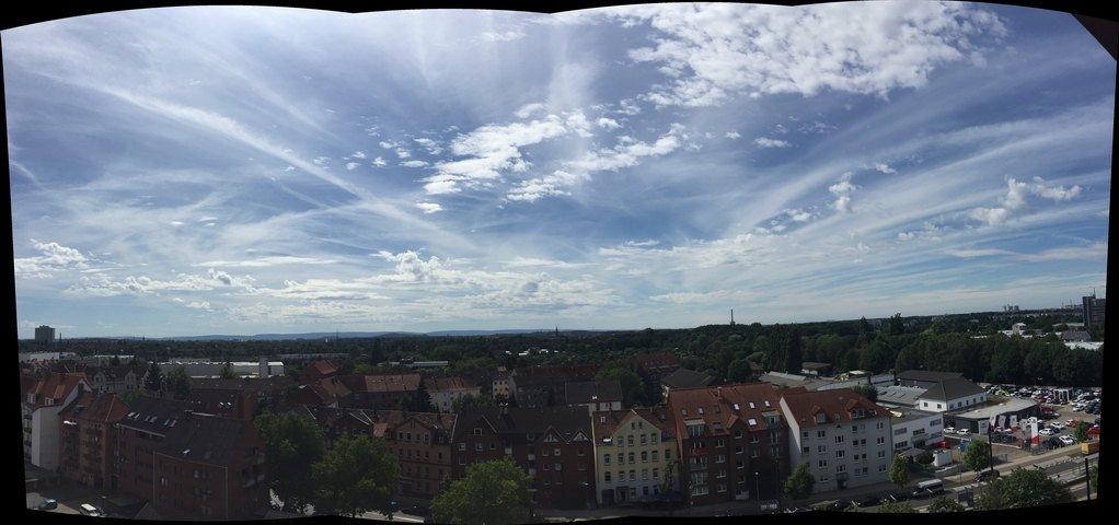 Blick vom Balkon auf Hannover