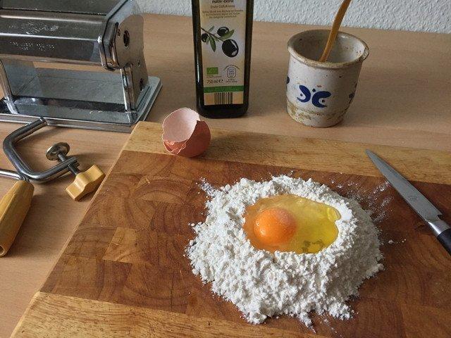 Lasagne Vorbereitungen