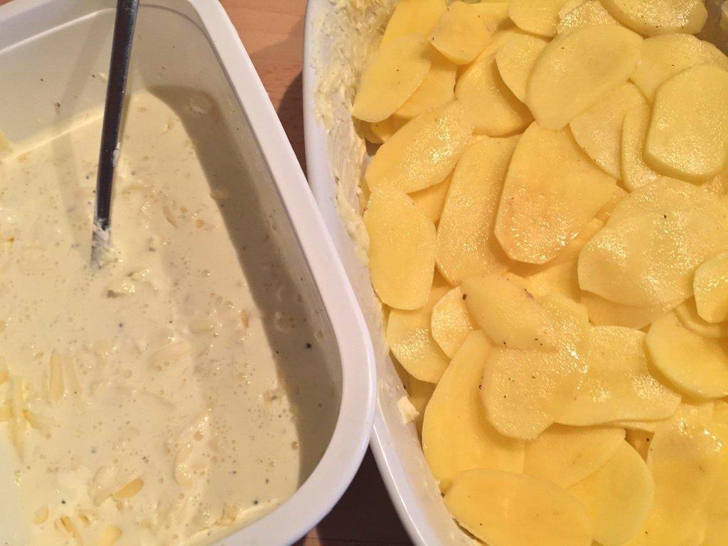 Kartoffelgratin und Liaison