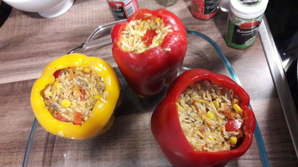 Projekt Kochgruppe Rezept gefüllte Paprika