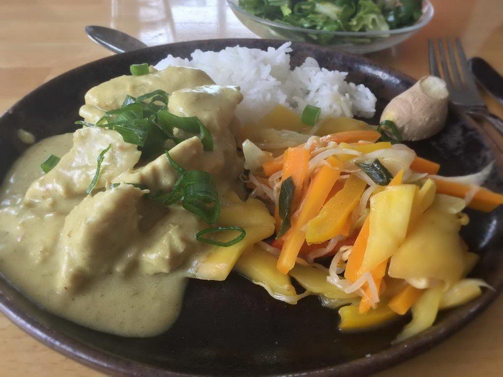 Currygeschnetzeltes - Kochgruppe mit scharfen Rezept