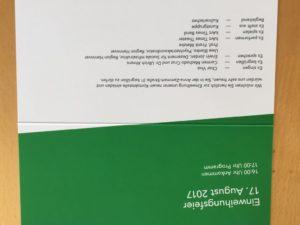 Kontaktstelle Einladung Einweihung