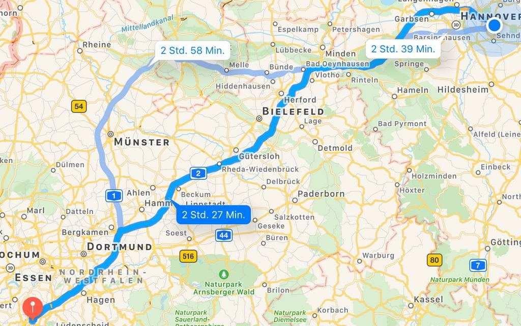 Lehrte Wuppertal und zurück