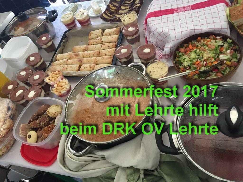 Sommerfest 2017 mit Lehrte hilft beim DRK OV Lehrte