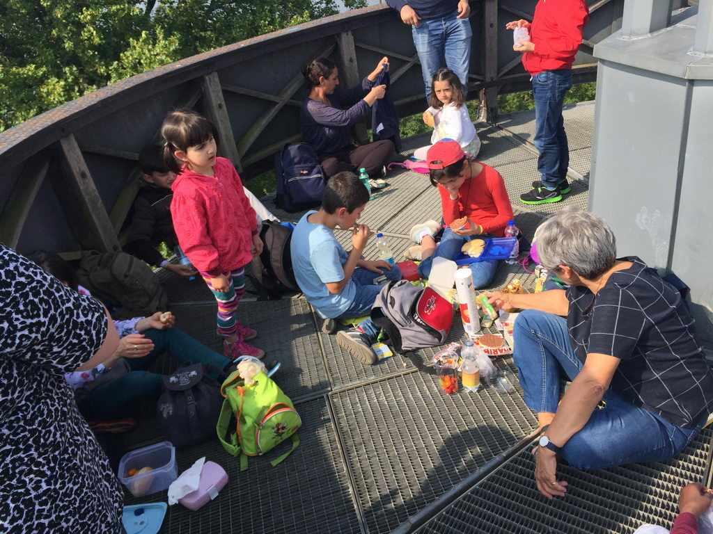 Picknick auf Aufsichtsplattform Festung Wilhelmstein