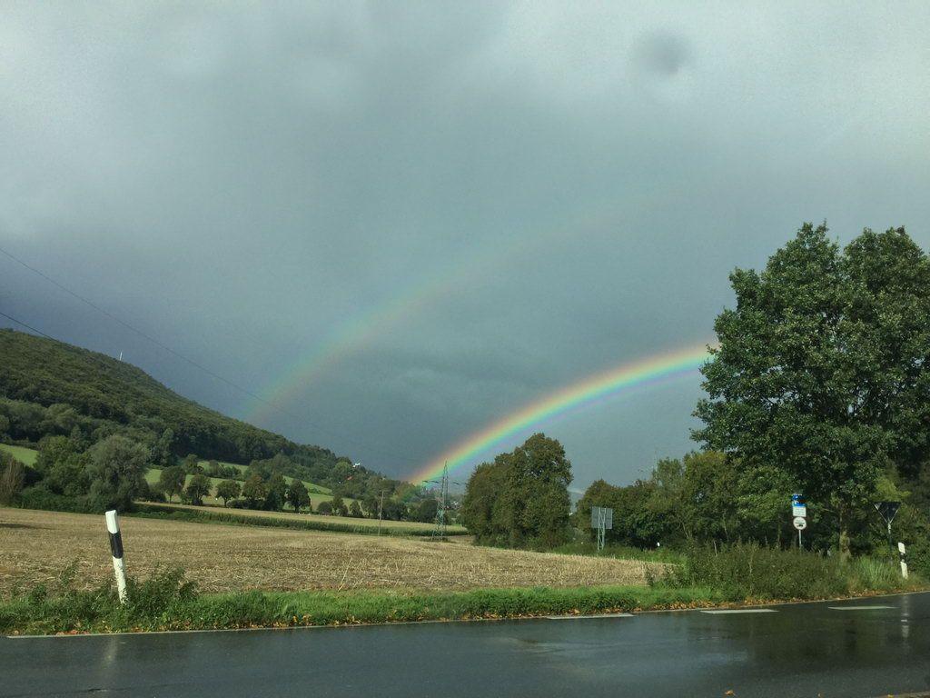 Rückfahrt mit Regenbogen