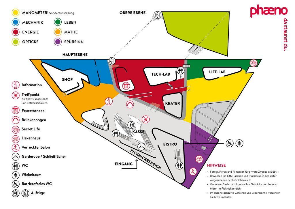 Lageplan Orientierungshilfe phaeno