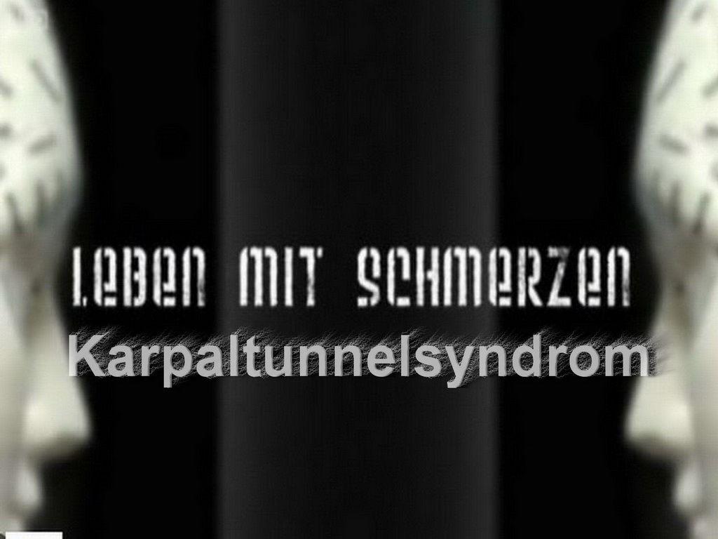 Leben mit Schmerzen Karpaltunnelsyndrom