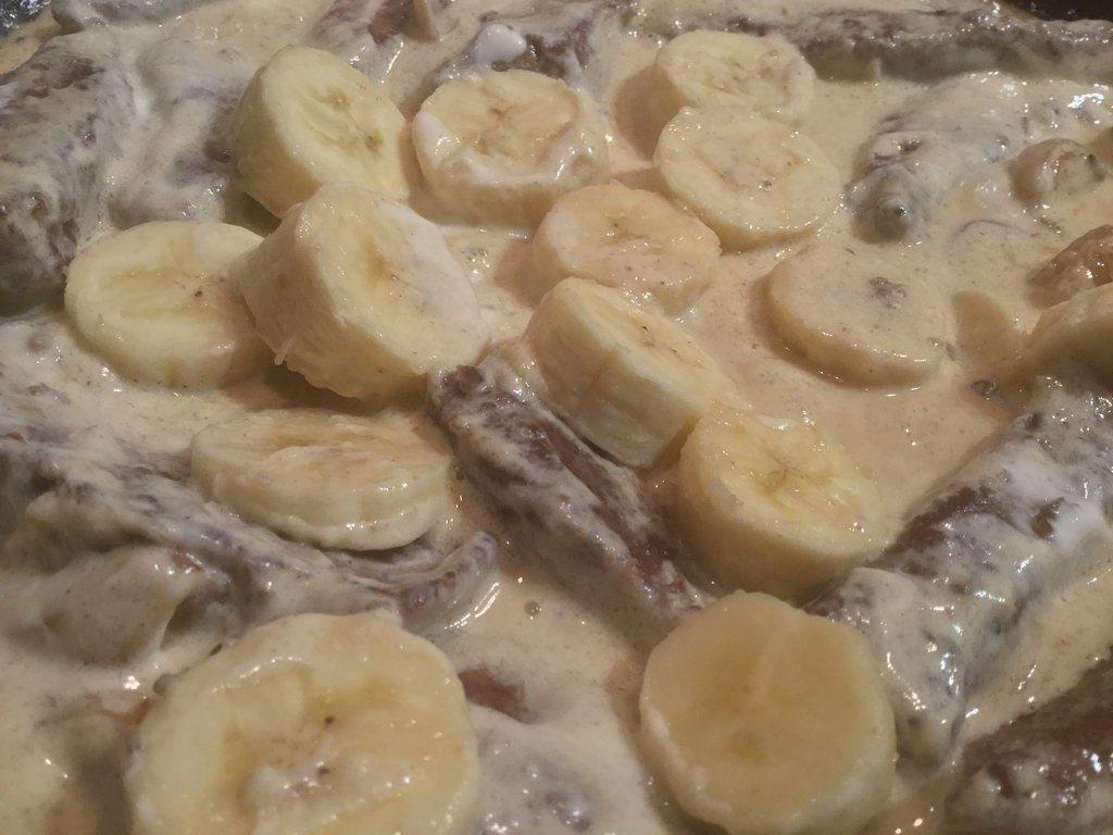 Lebergeschnetzeltes - Banane hinzufügen