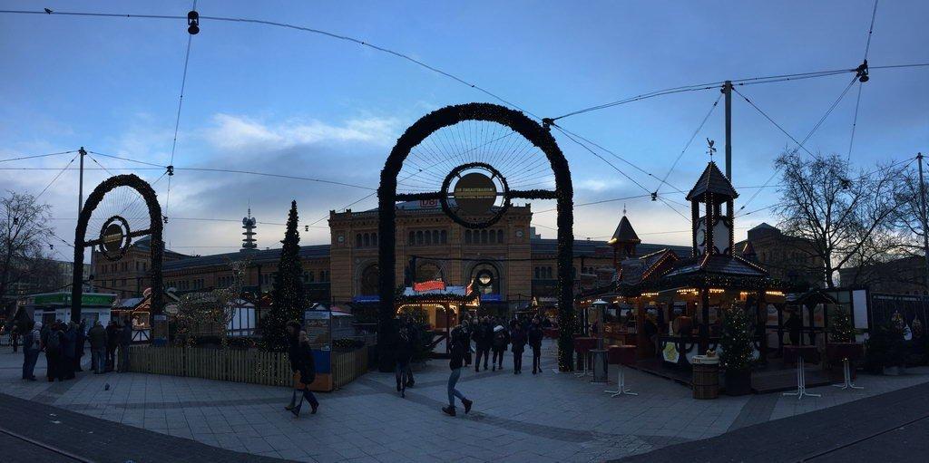 Weihnachtsmarkt am Hannover Hauptbahnhof