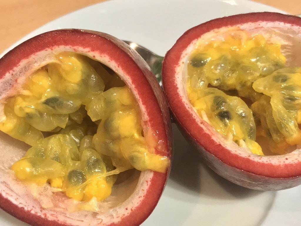 Feiertagsbraten zu Ostern - Dessert Passionsfrucht