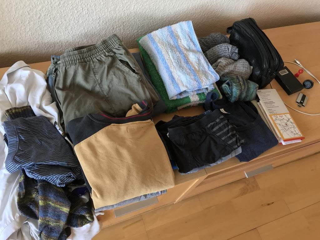 2 Tage vorher Klamotten gepackt ^^