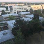 Med Hochschule Hannover - Rundblick aus Zimmerfenster vorn