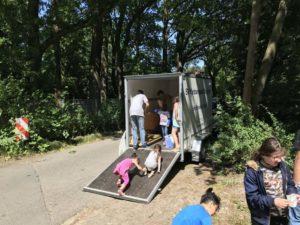 Picknick mit Lehrte hilft und DRK Pfingsten 2018 - aufräumen