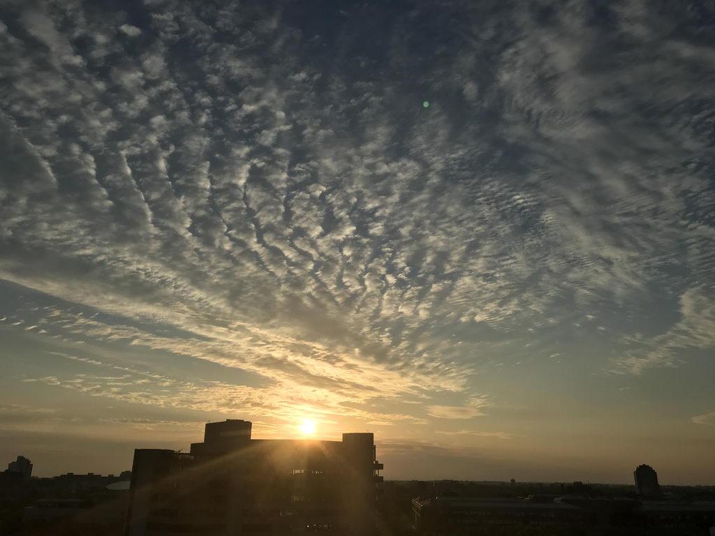 Sonnenaufgang bei Entlassung