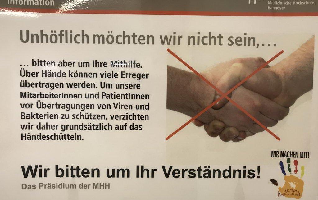 keine Hände schütteln - *ausgründen