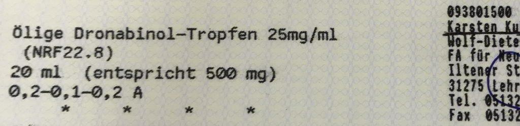 neues Rezept Dronabinol