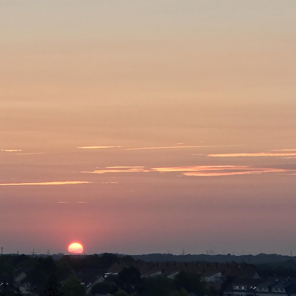 Sommerfest 2018 mit Lehrte hilft - Abends auf meinem Balkon