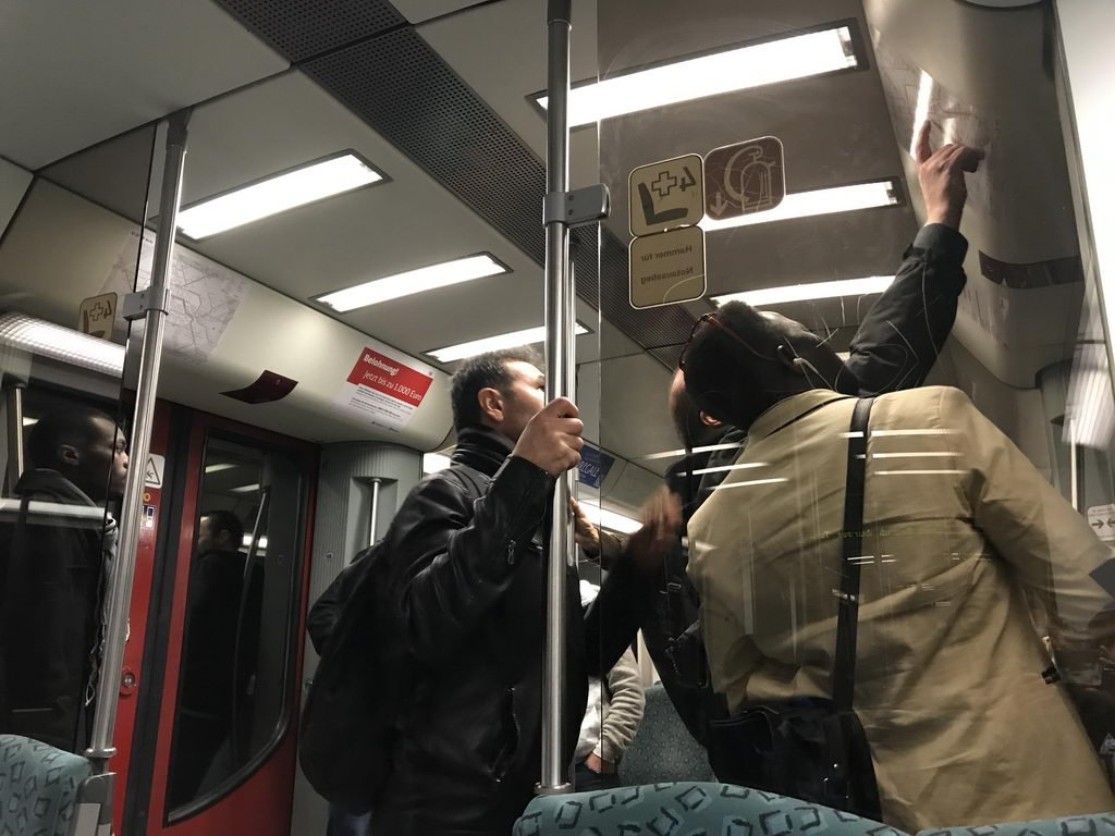 Berlinbesuch mit DRK OV Lehrte - in der U-Bahn
