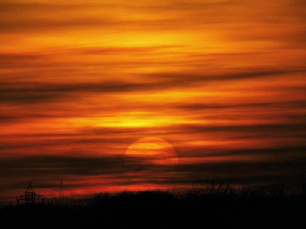 Spaziergang am Lehrter Bach - Sonnenuntergang