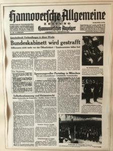 HAZ von 1956 - Berliner Format