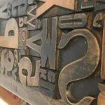 Holzschrift für Plakatsaztz