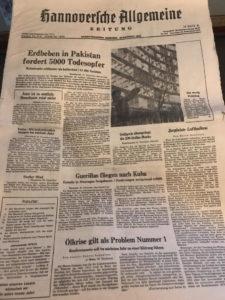 fast letzte Ausgabe Hannoversche Zeitung