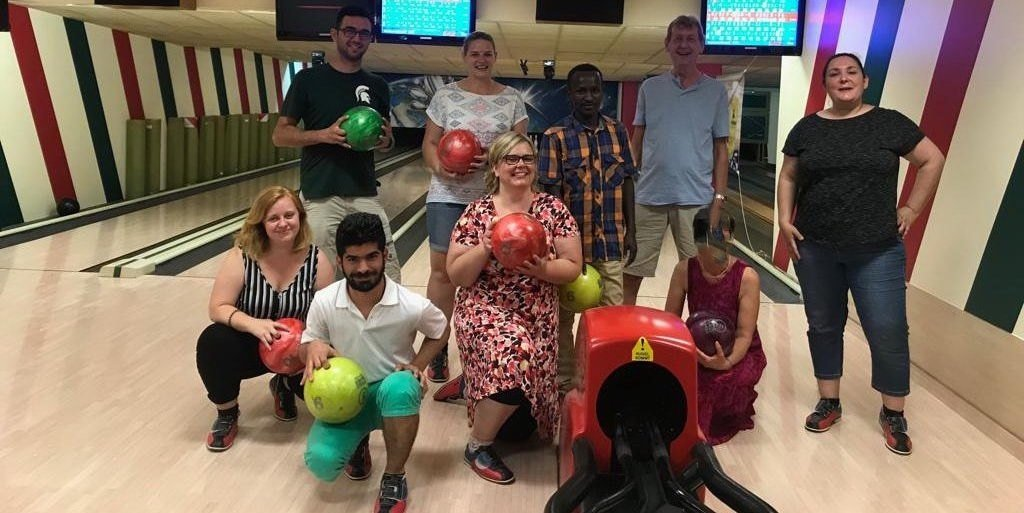 Bowling Stammtisch International mit Lehrte hilft - die Truppe