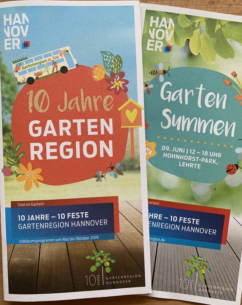 Flyer Region Hannover 10 Jahre-10 Feste