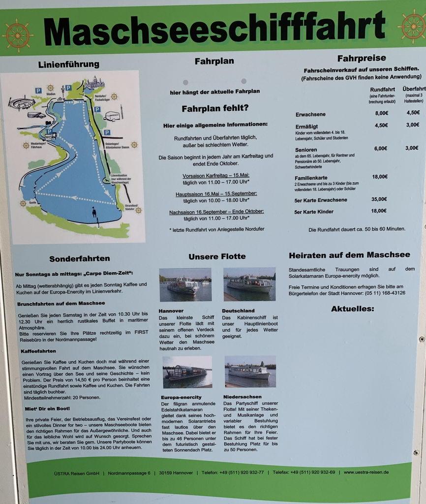 Plakat auf dem Schiff
