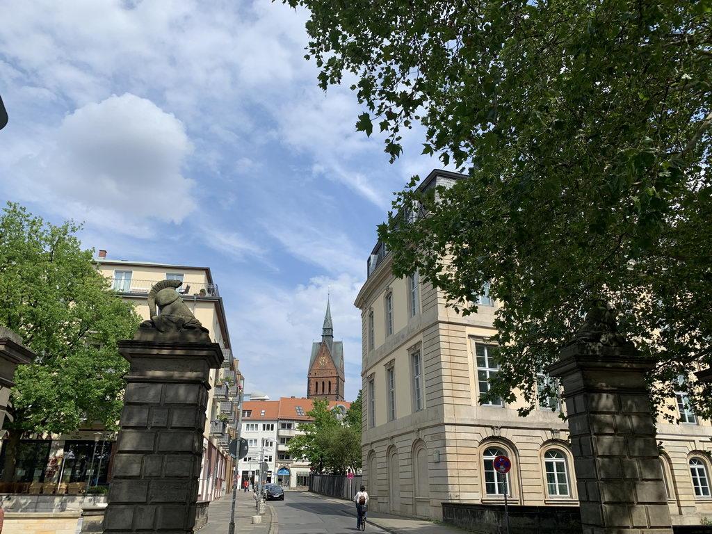 Altstadt Hannover - Blick durch ehemaliges Stadttor auf Marktkirche