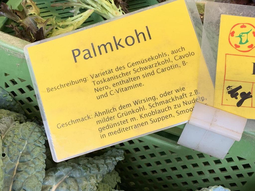 Bauernmarkt am Bahnhof Hannover - Palmkohl